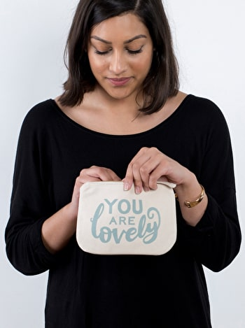 Photo of You Are Lovely - Little Canvas Pouch