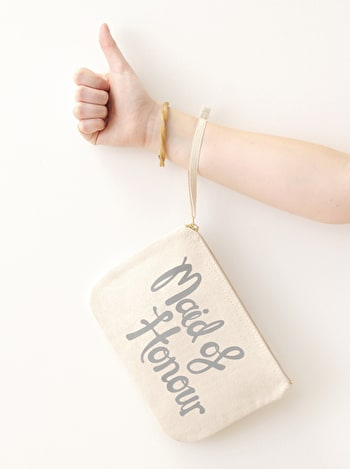 Photo of Maid of Honour Grey - Wedding Pouch