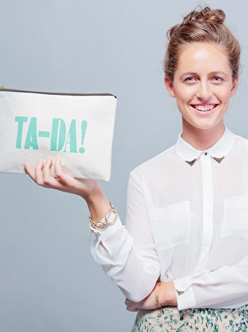 Photo of Ta-Da! - Large Canvas Pouch