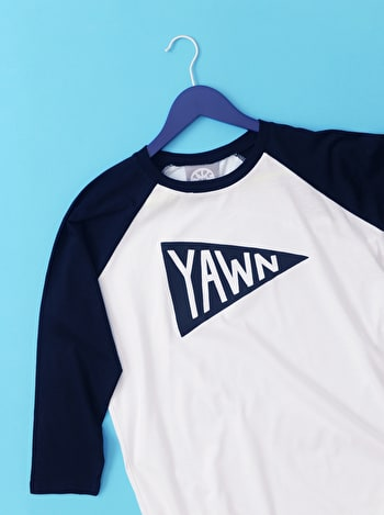 Photo of Yawn - Unisex Baseball T-Shirt