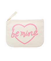 Be Mine - Little Canvas Pouch