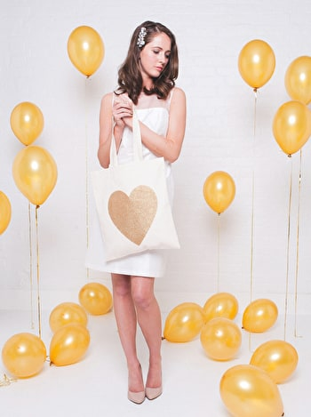 Photo of Heart Gold Glitter - Cotton Tote Bag