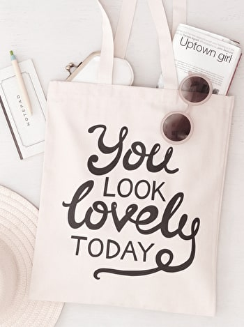Photo of You Look Lovely - Cotton Tote Bag