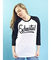 Exhausted - Unisex Baseball T-Shirt