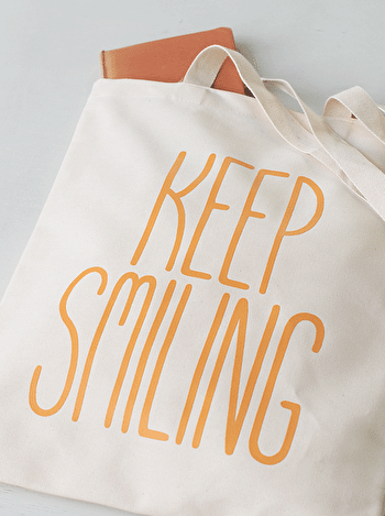 Photo of Keep Smiling - Cotton Tote Bag