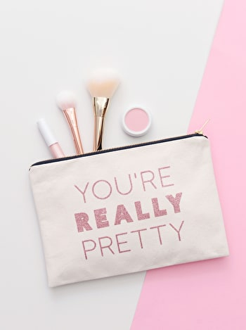 Photo of You're Really Pretty - Large Canvas Pouch