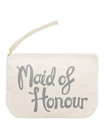 Maid of Honour Pouch | Bridal Party Favours | Alphabet Bags