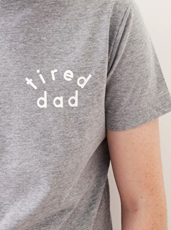 Tired Dad Men's T Shirt | Men's Slogan T-Shirts | Alphabet Bags