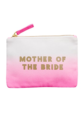 Mother of the Bride Ombre Wedding Pouch | Bridal Party Bags | Alphabet Bags