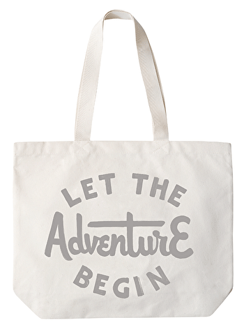 Photo of Let the Adventure Begin - Big Canvas Tote Bag