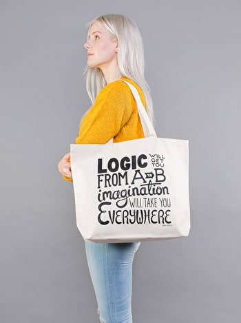 Photo of Imagination - Big Canvas Tote Bag