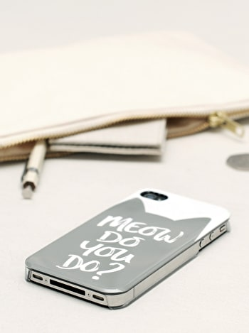 Meow Cat Iphone Case | Gifts For Cat Lovers | Alphabet Bags