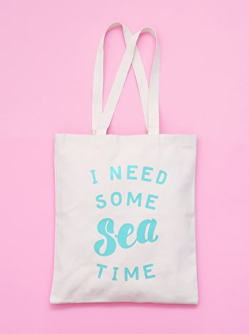 Seat Time Tote Bag | Beach Totes | Alphabet Bags