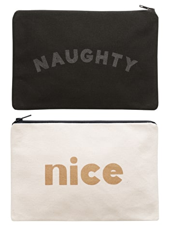 Naughty/Nice - Double-sided Pouch