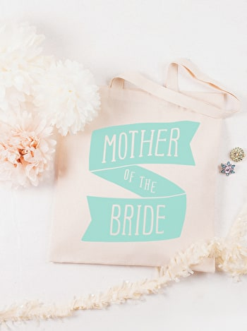 Mother of the Bride Tote Bag | Wedding Day Bag | Alphabet Bags