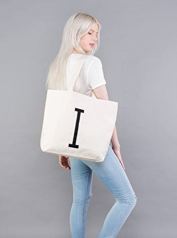 Photo of Initial Big Canvas Tote Bag
