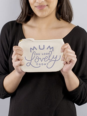 Photo of Mum, You Look Lovely Today - Little Canvas Pouch