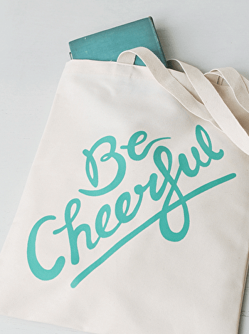 Photo of Be Cheerful - Cotton Tote Bag