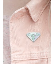 Diamond / April - Enamel Pin - Second
