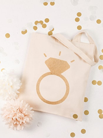 Photo of Ring Glitter - Wedding Tote Bag