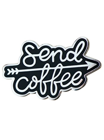 Send Coffee - Enamel Pin