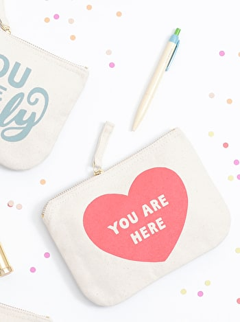 Photo of You Are Here - Little Canvas Pouch