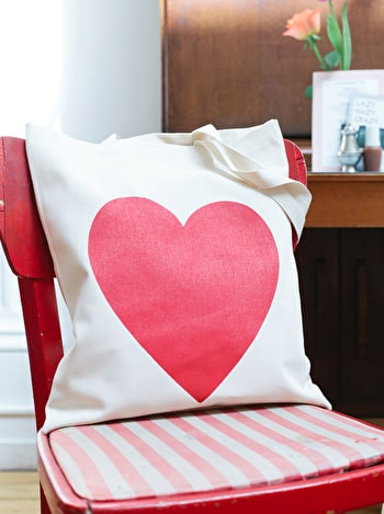 Photo of Heart Red - Cotton Tote Bag