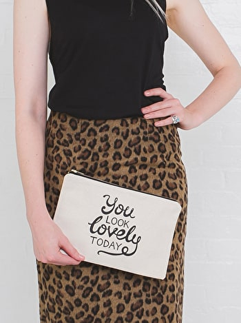 Photo of You Look Lovely Today - Large Canvas Pouch
