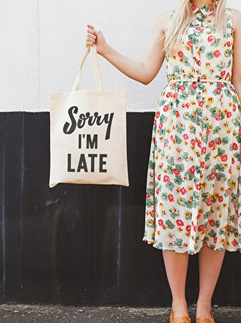 Photo of Sorry I'm Late - Cotton Tote Bag