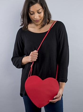 Heart Clutch Bag | Heart Shaped Bag | Alphabet Bags