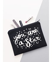 You are a Star - Black Canvas Pouch