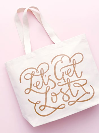 Photo of Let's Get Lost - Big Canvas Tote Bag