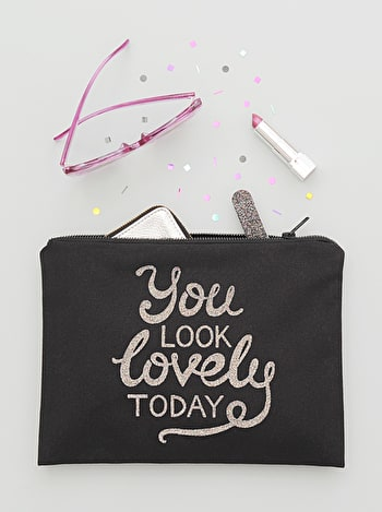 Photo of You Look Lovely Today - Black Canvas Pouch