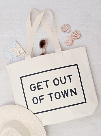 Photo of Get Out of Town - Big Canvas Tote Bag