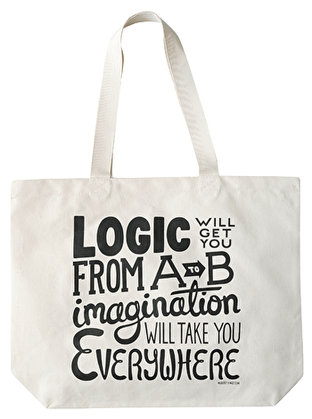 Imagination Large Canvas Bag | Reusable Canvas Bag | Alphabet Bags
