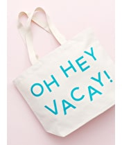 Oh Hey Vacay! - Big Canvas Tote Bag - Second