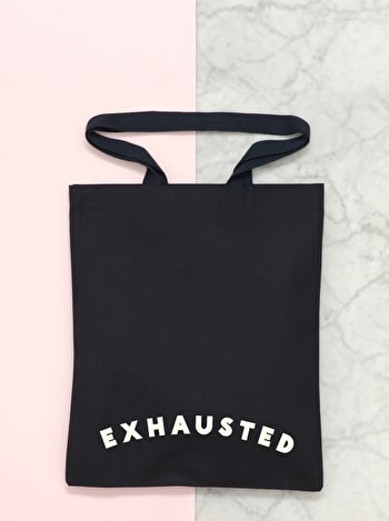 Photo of Exhausted - Cotton Tote Bag