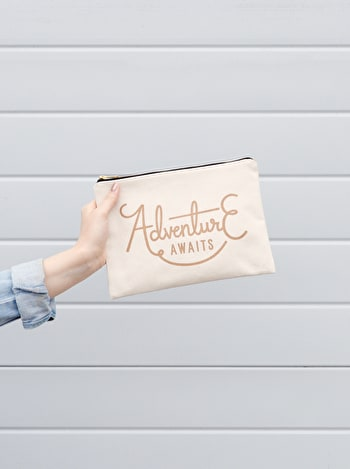 Photo of Adventure Awaits - Large Canvas Pouch