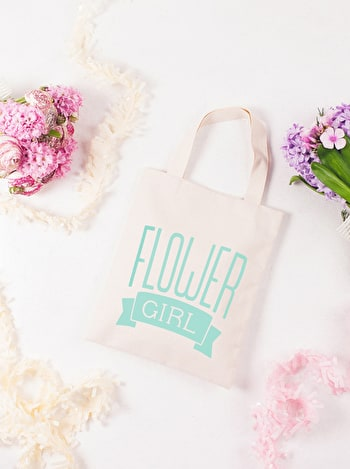 Photo of Flower Girl Mint - Mini Wedding Bag