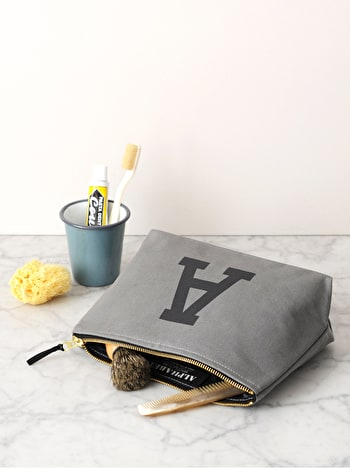 Photo of Initial Wash Bag - Grey