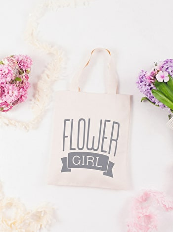 Photo of Flower Girl Grey - Mini Wedding Bag