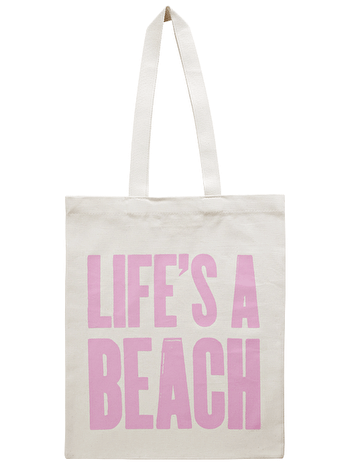 Life's A Beach Cotton Bag | Beach Totes | Alphabet Bags