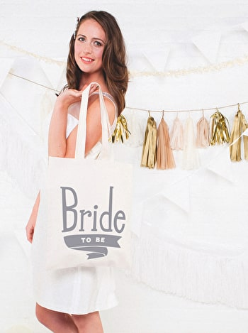 Photo of Bride To Be Grey - Wedding Tote Bag