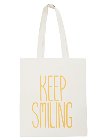 Keep Smiling - Cotton Tote Bag