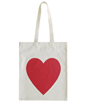 Heart Red - Cotton Tote Bag