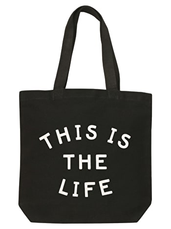 This is the Life Canvas Bag | Black Shoulder Bag | Alphabet Bags