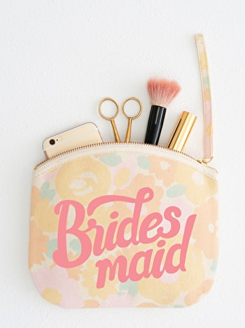 Photo of Bridesmaid - Floral Canvas Wedding Pouch