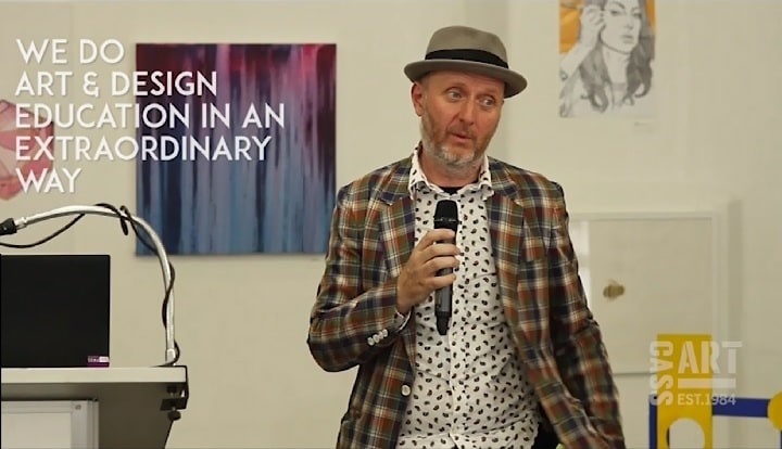 """There's an onus on the individual to keep democracy alive, that's why the arts are so important in our schools. Art is a serious business,"" says artist Bob and Roberta."
