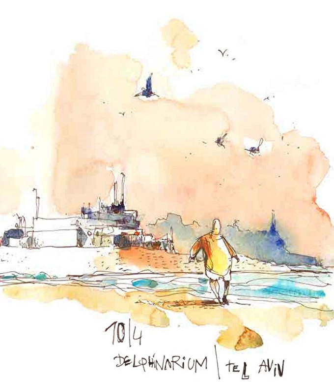 Storytelling in Colour: Exclusive Interview with Urban Watercolour Sketching Artist Felix Scheinberger