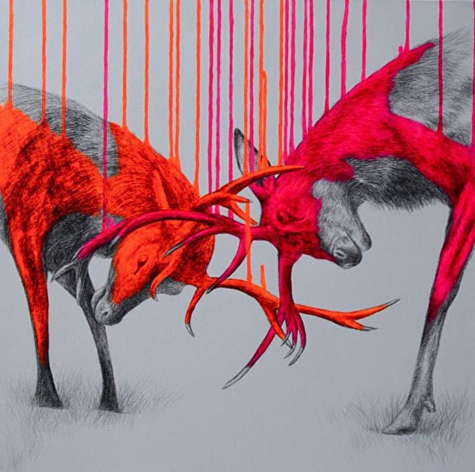 Neon Stags and Festive Cheer: Artist Interview with Louise Mcnaught